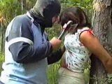 Stalker Bound Mature Woman To A Tree And Brutally Fucked Her In The Forest