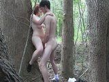 Horny Couple Having Sex Deep In The Forest