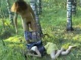 Teen Girl Gets  Fucked In the Woods