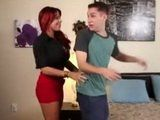 Redhead Cougar Spying And Fucking Her Friends Son In His House