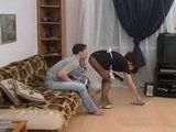 Horny Dude Fucks His Mature Inappropriately Dressed Maid