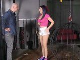 Young Latina Girl Caught In A Place She Shouldnt Be And Gets Rough Punishment