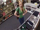 Amateur Blonde In Need For Money Fucked In A Pawnshop For Some Cash By The Owner