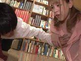 Busty Coed Girl With Big Nipples Seduced Shy Virgin Boy Into Fucking In School Library