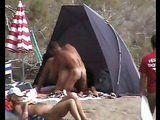 Voyeur Taped Horny Couple Fucking On The Public Beach