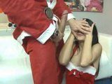 Santa Claus Prepared Huge Surprise This Year For Naughty Teen Girl