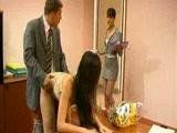 Client Walks On Her Lawyer Fucking a Secretary