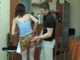 Horny Hunk Interrupt Moms Ironing To Immerse Cock Deep Into Her Mature Pussy