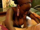 Hot African With Big Natural Tits Sucking Cock And Gets Fresh Cumshot On Her Face
