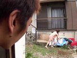 Neighbor Always Fumble Through Busty Milf Garbage Hoping That Will Find Her Dirty Panties Goes One Step Further Today