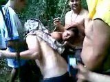 Bunch Of Guys Trapped Girl In The Jungle And Fuck Her In Turns