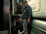 Naughty Rebel Teen Sucking Dick To Older Trucker On A Parking Lot
