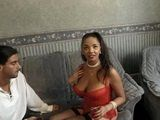 Beautiful Ebony Girl Gets Fucked In Her House By Two Guys She Met In The Store She Works