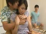 Boy Watched While His Perverted Classmate Banging His Hot Milf Mom