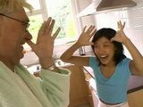 Fooling Around With Old Perv Bring Young Asian Babysitter Nothing But Trouble