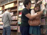 While He Looking For Some Interesting Book In Library Nerd Boy Found Something More Interesting Under This Girl Skirt