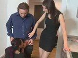 Young Hot Maid Was Put Under The Couples Observation