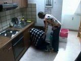 Horny Stepmom And Her Daughter Suddenly Interrupt Plumber While Doing His Job