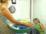 Blonde Mom Caught Not Her Son Jerking On Porn Magazine In Laundry Room