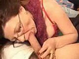 Amateur Mature Wife With Glasses Blows and Deep Throat Husbands Cock Until Hubby Cums In Her Mouth