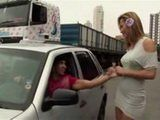 Smoking Hot Tranny Prostitute Picked Up On Street and Fucked at Home