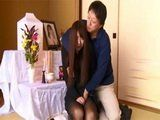 Husband Couldnt Resist His Late Wifes Friend Kaoru Natsuki Who Came To Offer Her Condolences