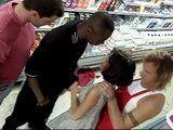 Salesgirls Kimberly Kummings and Alex Dane Anal Gangbang In Super Market