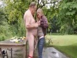 Old Man Seduced Neighbors Young Daughter In The Backyard