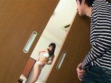 Student Came At Teahers House Earlier And Spy Her Hot Daughter Through The Door