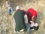 Busty Girl Fucked While Her Boyfriend Is Tied and Forced To Watch